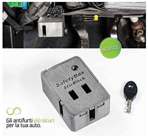 Star Block SAFETYBOX Antifurto Auto in Acciaio per la Protezione Prese Dati e Diagnosi obd