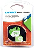 Dymo LetraTag Paper Label Tape, 12 mm x 4 m Roll - White