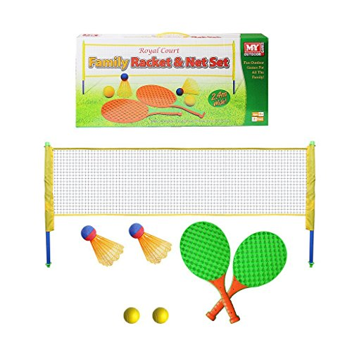 Set de juego de raqueta y tenis de red Diversión al aire libre Juego de jardín de familia Bolas de pelotas
