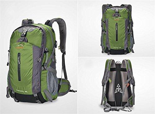 esterno di campeggio zaino alpinismo spalla borsa uomini e donne borsa da viaggio zaino trekking 45L50L Army Green