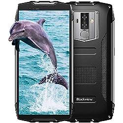 Téléphone Portable Incassable,Blackview BV6800 Pro,Écran: 5.7 Pouces FHD+, 6580mAh Batterie, 64Go ROM, Android 8.0, Cameras 16MP+13MP+8MP, IP69K, Smartphone Debloqué Étanche Antichoc-Noir