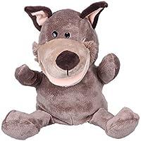MBZY MarionetasDeMano Puppet Peluche De Animal JugueteparaBebéNiños (Perro Marrón)