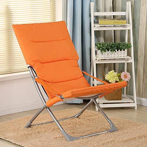 CJC Inclinable Plate-Forme Accoudoirs Antidérapant Pliant Rond Chaise Acier+PP Coton Couverture Canapé Lune (Couleur : Orange)