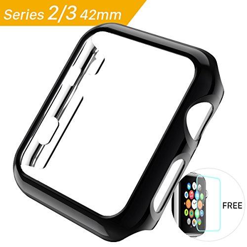 iWatch Series 3 Hülle, Weiche PC Case ultra slim schutz stoßstange bumper shell für Apple Watch Series 2 Cover Harte Themen 2