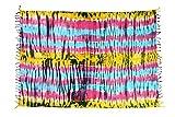 Ciffre Sarong Pareo Wickelrock Strandtuch Tuch Schal Hüftrock Lunghi Dhoti Wandbehang Handtuch Decke Tischdecke Wickelkleid Hippie Streifen Bunt