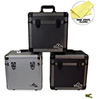 "Gorilla LP60 12"" LP Vinyl Record Storage Carry Case - Holds 60 - 3 Colours Available … (Carbon)"
