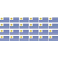 Mini banderas Conjunto de lisa - 33x20mm - autoadhesivo - Uruguay - Bandera de la etiqueta