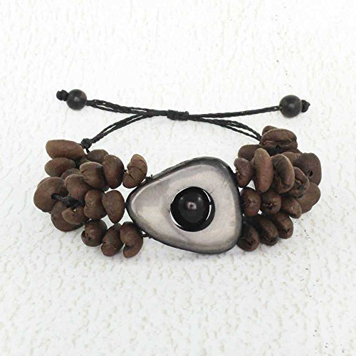 coffee-bean-bracelet-with-grey-tagua-nut-accent