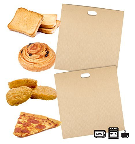 Toaster Bags for Grilled Cheese Sandwiches Made Easy (2 Pack), Reusable, Non-stick