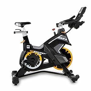 51zH9qKxixL. SS300  - Bh Fitness Unisex's Superduke Power Spinning Bikes, Black Yellow, Large
