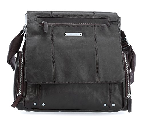 Piquadro Jazz Borsa messenger per laptop marrone