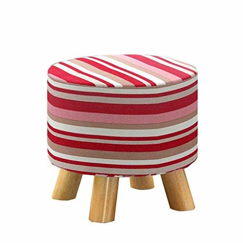 Ali Kleiner Bank-Art-Hocker-niedriger Hocker-kreativer sitzender Pier-Tuch-Hauptsofa-Hocker ( Farbe : Pink stripes )