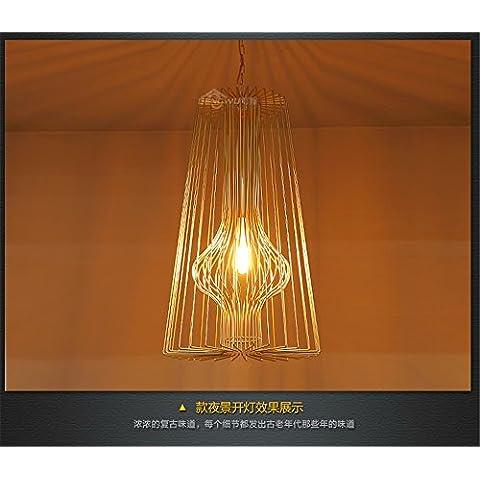 Ty552-Testa singola piccoli lampadari a personalizzare il villaggio creativo lampadario in ferro lampadari creative lampade a soffitto lampade retrò DW-D