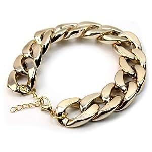 Chaine Epaisse Chunky Femmes Dorée/Argentée Collier/Chaine/Bracelet/Joaillerie