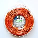 Ratioparts 6-347 nylondraad 1,6 mm aluminium cut 210 m trimmerdraad rond maaidraad, oranje