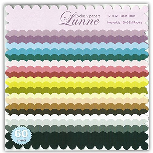 Assorted Scalloped Edge 12x12 Paper Pack - Exclusive (60 Sheets)