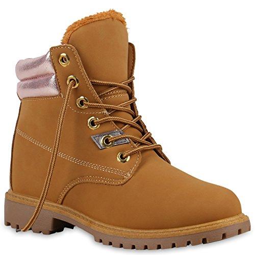 Worker Boots Unisex Damen Herren Outdoor Stiefeletten Zipper Warm Gefüttert Hellbraun Rosa