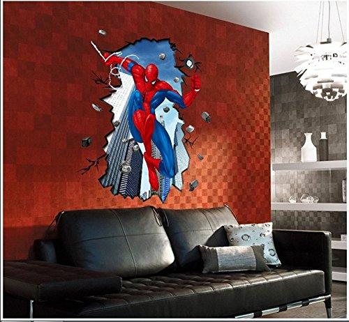 Énorme Grand Spiderman XXXL Homme araignée Grand Énorme mur Autocollants Enfants Garçons Chambre Decal art Mural Décor Décoration