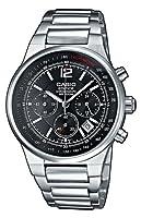 Reloj de caballero CASIO EF-500D-1AVEF Edifice de cuarzo, correa de acero inoxidable color plata de Casio