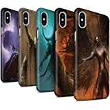 Offiziell Chris Cold Hülle / Matte Snap-On Case für Apple iPhone X/10 / Pack 10pcs Muster / Dunkle Kunst Dämon Kollektion