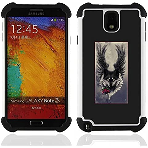 SAMSUNG Galaxy Note 3 III / N9000 / N9005 - 3 in 1 Colorful Heavy (Angelo Leather Jacket)