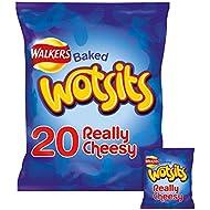 Walkers Wotsits Cheese Multipack Snacks, 20 x 16.5 g