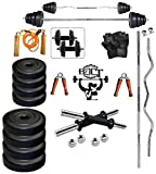 #4: Bfit 30 Kg Home Gym Set With 3Ft Curl And 3Ft Plain Rod+ Accessories