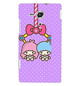 Printvisa two animated girls hanging Back Case Cover for Sony Xperia SP::Sony Xperia SP M35h