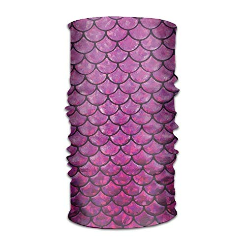 Ejjheadband Unisex Mermaid's Tail Scales Pink Multifunctional Bandanas Sweatband Elastic Turban Headwear Headscarf Beanie Kerchief (Mermaid Tail Leggings)