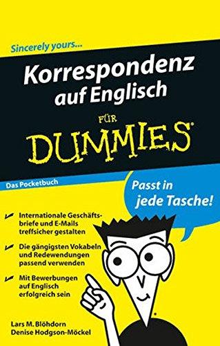 Korrespondenz auf Englisch für Dummies Das Pocketbuch