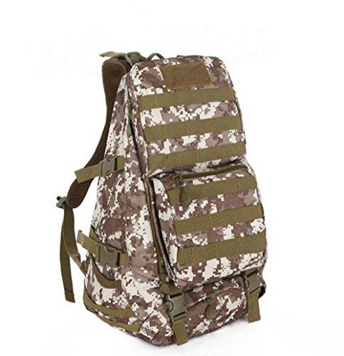 GOUQIN Outdoor Rucksack Klassische Mode Outdoor Klettern Rucksäcke Taschen 4 Camouflage