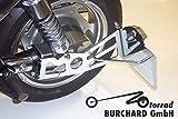 Seitlicher Kennzeichenhalter Kawasaki VN 1500 Mean Streak, Suzuki VZ 1600 Marauder Teilegutachten