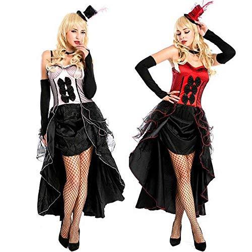 KAIDILA Weibliche Jazz Kostüm Halloween Kostüm Cosplay Königin Kostüm Nacht Sängerin Leistung (Kostüme Halloween Weibliche)