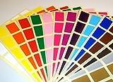Audioprint Ltd. - Adesivi prezzo rettangolari etichette 20 x 30mm colorati - 20 x 30mm, Misto