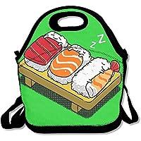 Preisvergleich für Mittagessen Tote schlafen Sushi Lunch-Boxen Lunchpaket Handtasche Lebensmittel Aufbewahrung passend für Schule Reisen Arbeit Outdoor