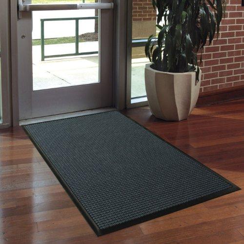 Andersen 200520023agua HOG entrada interior/exterior alfombra, Classic, polipropileno Fibber, SBR goma Felpudo, longitud de 3'x 2de ancho, 3/8'grueso, color marrón oscuro