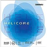 D'Addario Bowed Jeu de cordes pour contrebasse pizzicato D'Addario Helicore, manche 3/4, tension Light