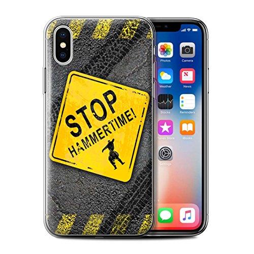 Stuff4 Gel TPU Hülle / Case für Apple iPhone X/10 / Hammerzeit Muster / Lustige Wegweiser Kollektion Hammerzeit