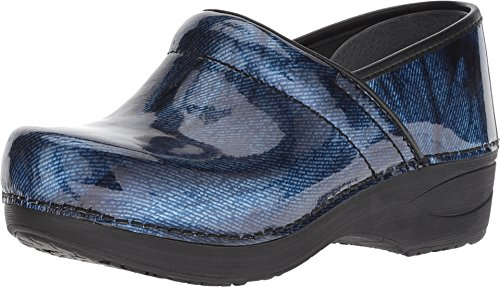 Dansko Women's Xp 2.0 Clog Denim Patent Size 39 Regular EU -