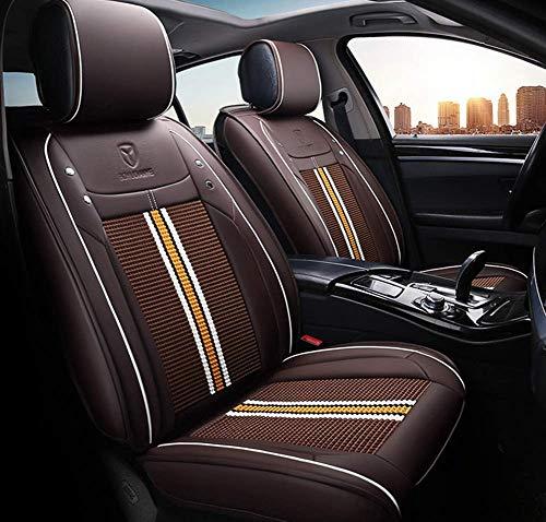Preisvergleich Produktbild TUNBG Autositzbezug,  Car Styling Für BMW F10 F11 F15 F16 F20 F25 F30 F34 E60 E70 E90 1 3 4 5 7 Serie Gt X1 X3 X4 X5 X6,  Beige, Braun