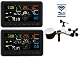 Profi Funk Wetterstation Froggit WH3000 TWIN (2 Displays) - WiFi Internet Wetterstation Farbdisplay, Wunderground, App