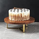 nestroots Wooden Cake/Dessert Platter Pedestal Stand for Dining Table (12 Inches)