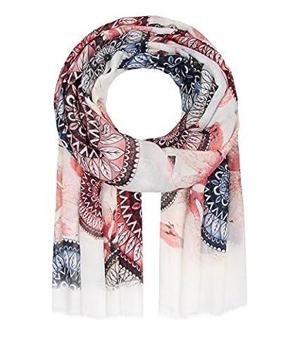 Majea NEU Schal Damen Tuch viele Farben Muster Tücher Halstuch XXL Schals (rot 5)