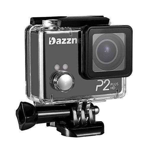 Dazzne P2Plus - Cámara de acción deportiva, 2K, 1080p, HD, Wi-Fi, impermeable