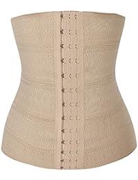 corset elasticite - SODIAL(R) Femme Sexy Corset Serre Taille Ceinture Minceur Bustiers et Corsets Ventre noir S