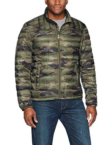 Tommy Hilfiger Herren Packable Down Jacket (Regular and Big & Tall Sizes) Daunen, Oberbekleidung, Mantel, Olive Camouflage, Groß