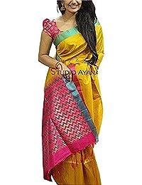 Leriya Fashion Cotton Silk Saree With Blouse Piece (Lf-(S1043)_Black_Free Size)