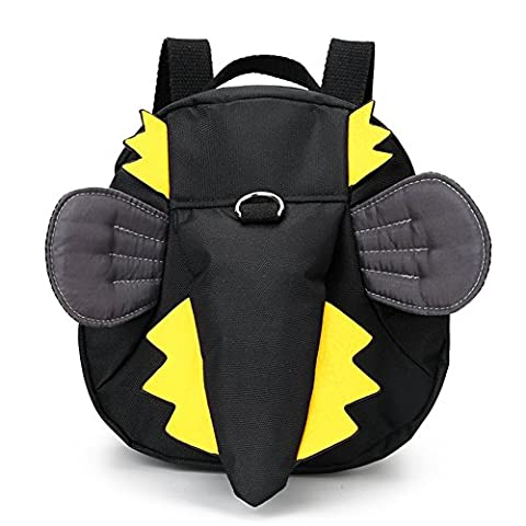 Baby-Kleinkind-Rucksack-Schulte Mini Anti-verloren-Beutel-Kind-Schule-Beutel-Kind-Bügel-Rucksack mit Sicherheitsleine (Schwarz)