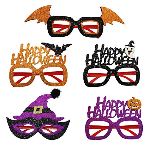 Urlaub Für Paare Kostüm - FunPa 5 Paare Halloween Party Gläser Süßer Glitzer Kostüm Brille Kinder Brille