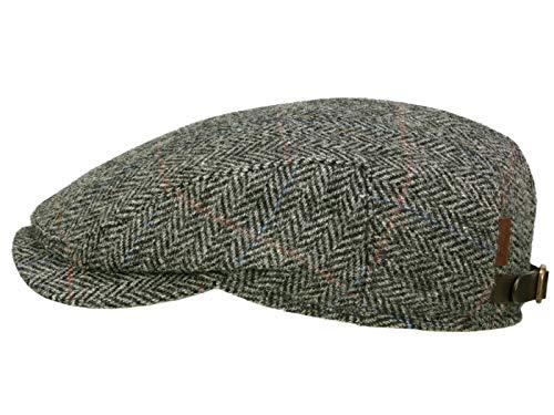 c56d3a993a610 Wigens Ivy Contemporary Cap Flatcap mit Ohrenklappen aus Harris Tweed -  Black - 59